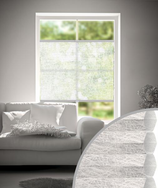 Plissee Rueda Transparent Weiß