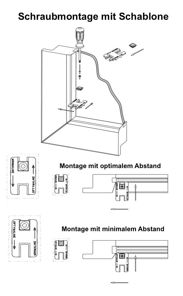 Montageschablone-F
