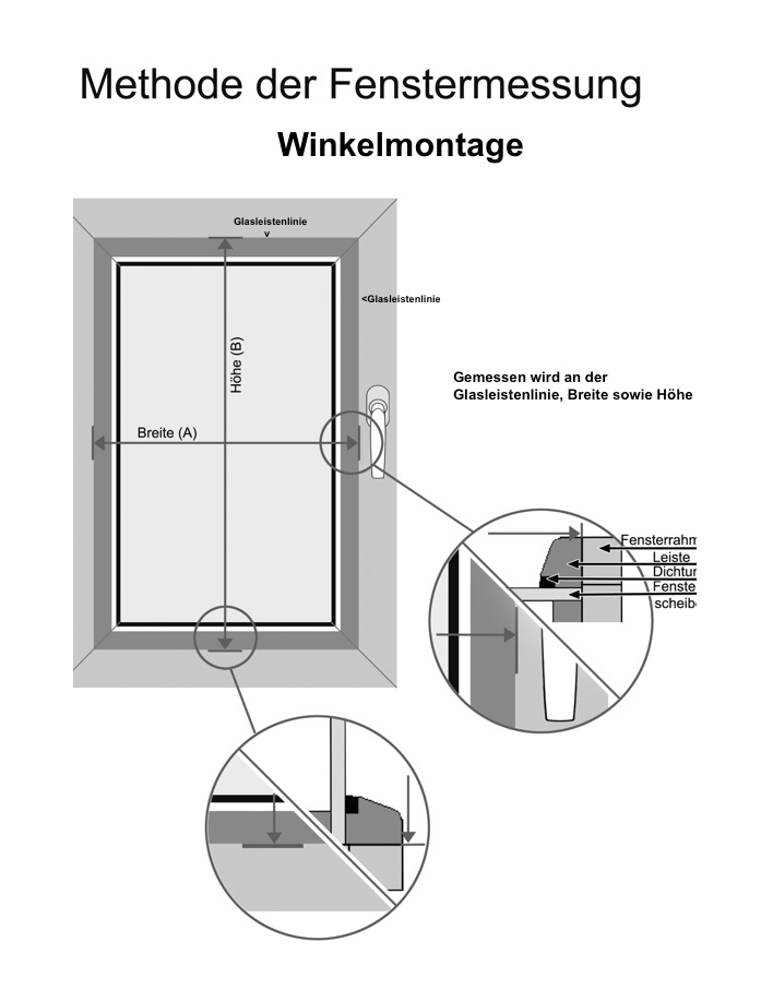 Messen-Winkelmontage